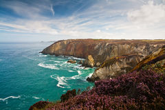 Cliffs in Cornwall, UK. Royalty Free Stock Photos