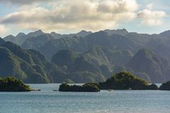 Rocks of Coron Island, Palawan, Philippines Stock Photography
