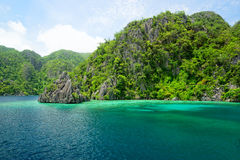 Cliffs of Coron Island, Philippines Royalty Free Stock Photos