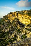 Cliffs at the cost of Malta. Next to the mediterrean sea Royalty Free Stock Photos