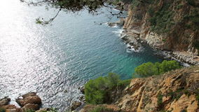 Cliffs of  Costa Brava stock footage