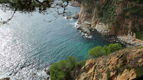 Cliffs of  Costa Brava stock video footage
