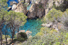 Cliffs of the Costa Brava Stock Images