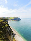 Cliffs on cote d'albatre of english channel coast Stock Images
