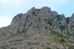 Cliffs of the Crimean mountains. The cliffs of the Crimean mountains, similar to the organ Royalty Free Stock Image