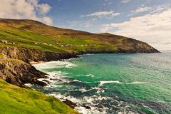Cliffs on  Dingle Peninsula, Ireland. Scenic landscape by sea on Dingle Peninsula in Ireland Royalty Free Stock Images