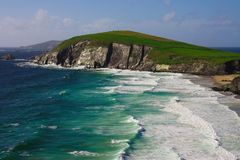 Cliffs on Dingle Peninsula, Ireland. Scenic landscape by sea on Dingle Peninsula in Ireland Royalty Free Stock Photos