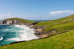 Cliffs on Dingle Peninsula, Ireland. Scenic landscape by sea on Dingle Peninsula in Ireland stock images