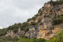 Cliffs of the Dordogne Stock Images