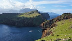 Madeira Cliffs Portugal royalty free stock photography