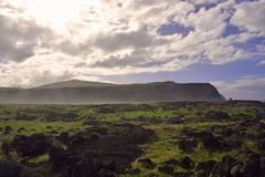 Cliffs of Easter Island. Rocks and cliffs of Easter Island, Chile Royalty Free Stock Photo