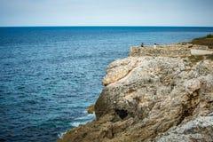 Cliffs of El Morro Castle in Havana, Cuba royalty free stock image