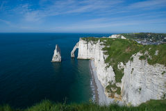 Cliffs Of Etretat Stock Images