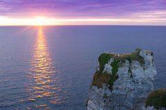Cliffs in Etretat Royalty Free Stock Photos