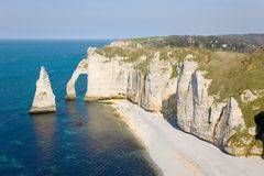 Cliffs at Etretat Stock Image