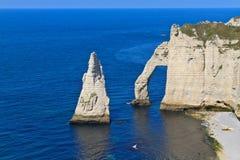 Cliffs of Etretat Royalty Free Stock Photo