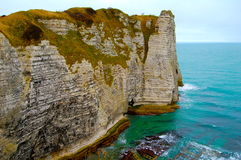 The Cliffs of Etretat Stock Image