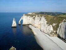 Cliffs of Etretat Stock Images