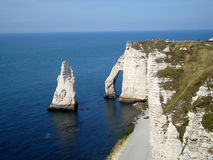 Cliffs of Etretat Royalty Free Stock Images