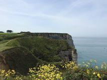 The cliffs in etretat Royalty Free Stock Photo