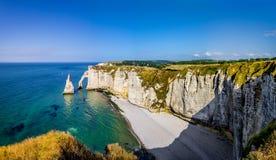 Cliffs of Etretat Stock Photography