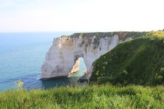 Cliffs at Etretat Royalty Free Stock Images