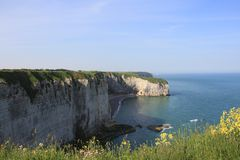 Cliffs at Etretat Royalty Free Stock Photos