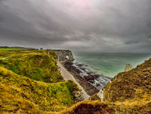 Cliffs of Etretat, France Stock Photo