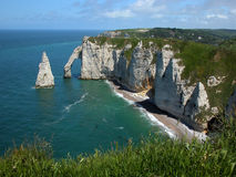 Cliffs at Etretat France Europe Royalty Free Stock Photos