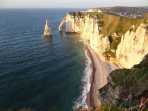 Cliffs at Etretat Stock Photo