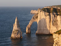 Cliffs at Etretat Royalty Free Stock Photography