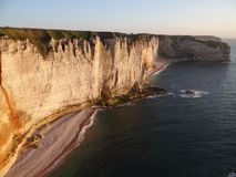 Cliffs at Etretat Stock Photography