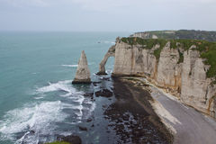 Cliffs of Etretat Stock Photos