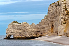 Cliffs of Etretat, Normandy Stock Photos