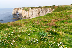 Cliffs of Etretat, Normandy Stock Photo