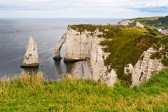Cliffs of Etretat, Normandy Royalty Free Stock Photos