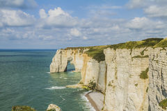 The cliffs of Etretat Royalty Free Stock Image