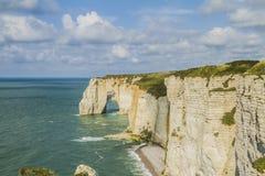 The cliffs of Etretat Royalty Free Stock Image