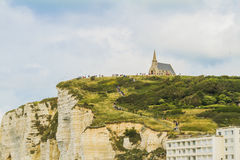 The cliffs of Etretat. In Normandy Stock Photography