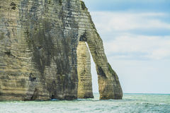 The cliffs of Etretat. In Normandy Royalty Free Stock Images