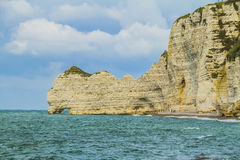 The cliffs of Etretat. In Normandy Royalty Free Stock Image