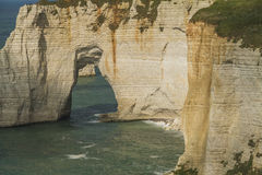 The cliffs of Etretat. In Normandy Royalty Free Stock Photo
