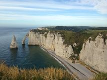 Cliffs at Etretat. In Normandy stock photography