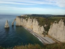 Cliffs at Etretat. In Normandy royalty free stock photography