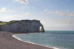 The cliffs at Etretat in Normandy, France Royalty Free Stock Image