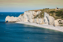 Cliffs of Etretat, Normandy, France Stock Photos