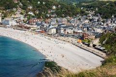Cliffs of Etretat, Normandy, France Royalty Free Stock Photos
