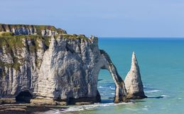 Cliffs of Etretat, Normandy,France Royalty Free Stock Photo