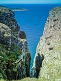 Cliffs facing the barents sea in nordkapp. Cliffs facing the barents sea on nordkapp finnmark norway Royalty Free Stock Photography