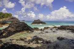 Cliffs, Fernando de Noronha, Brazil Royalty Free Stock Photo